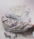 Boats-Original Vietnamese Art