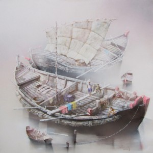 Boats-Original Vietnamese Art