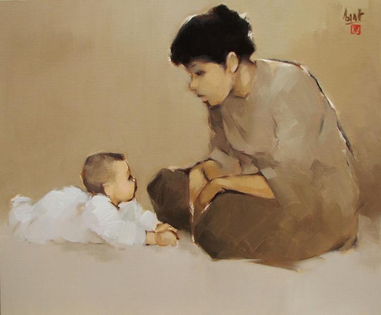 The Mother 02-Original Vietnamese Art