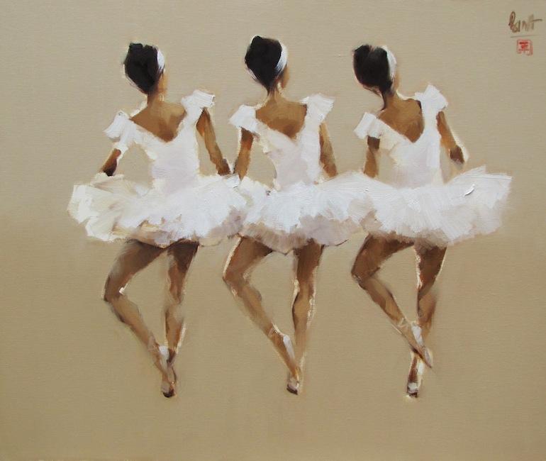 The young dancers-Original Vietnamese Art