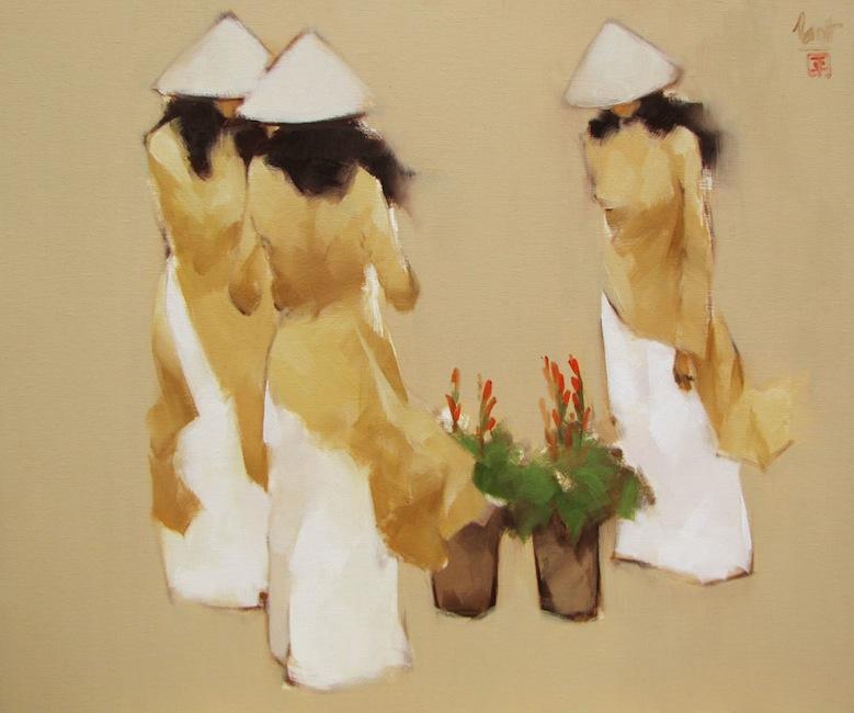 Young florists-Original Vietnamese Art