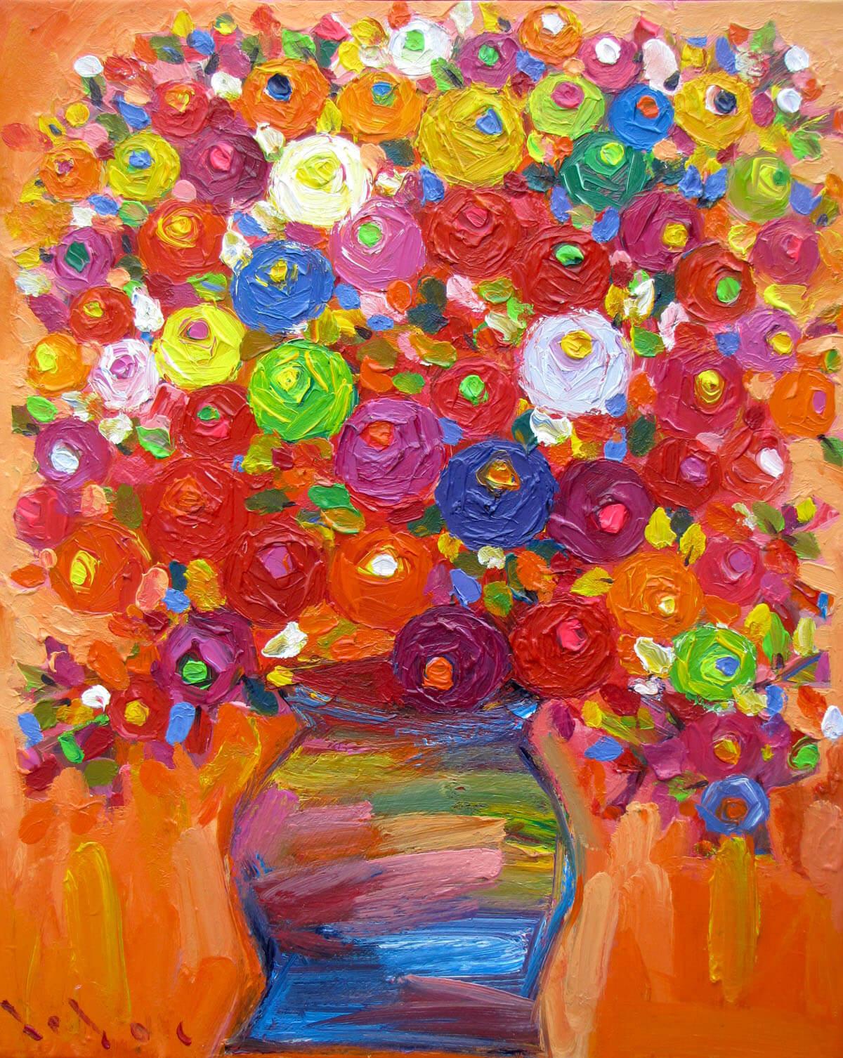 Still-life with vase of flowers -Original Vietnamese Art