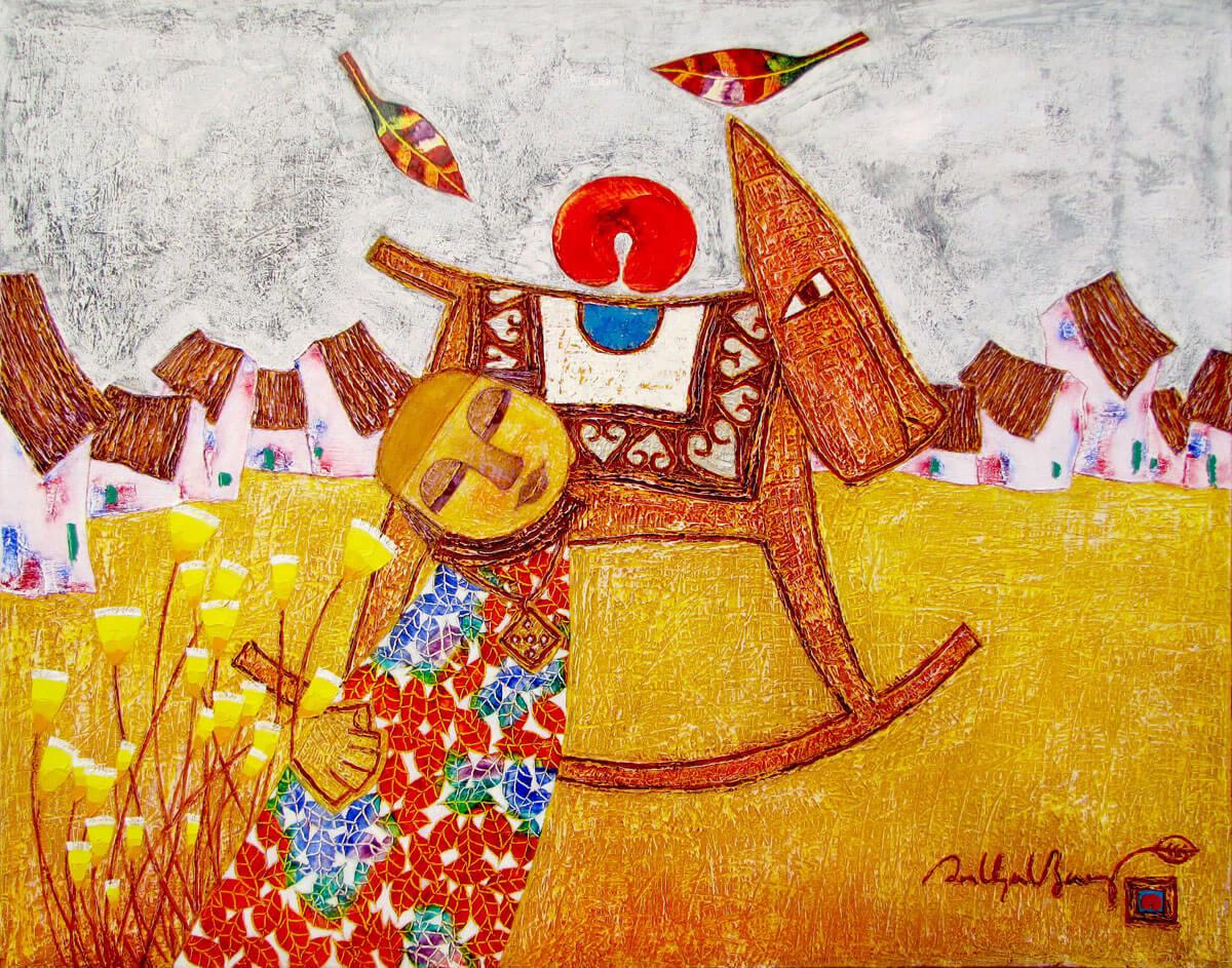 Childhood memory 01-Vietnamese Painting