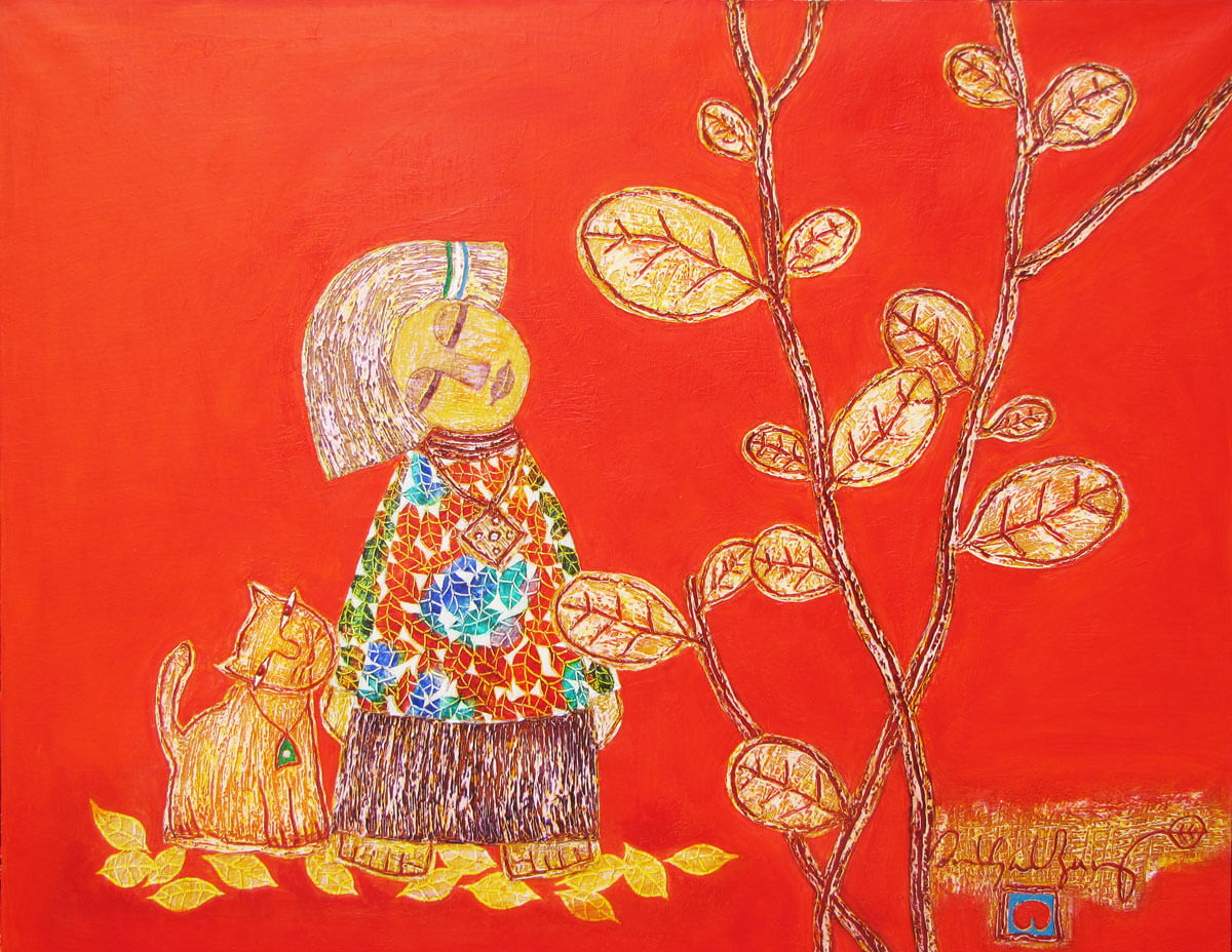 Childhood memory 02-Vietnamese Painting