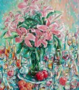Still-life with lily flowers-Vietnamese Painting