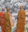 Flowers on Buddha's land -Original Vietnamese Art