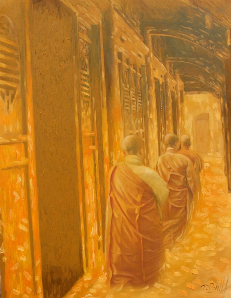 The Monks 02-Original Vietnamese Art