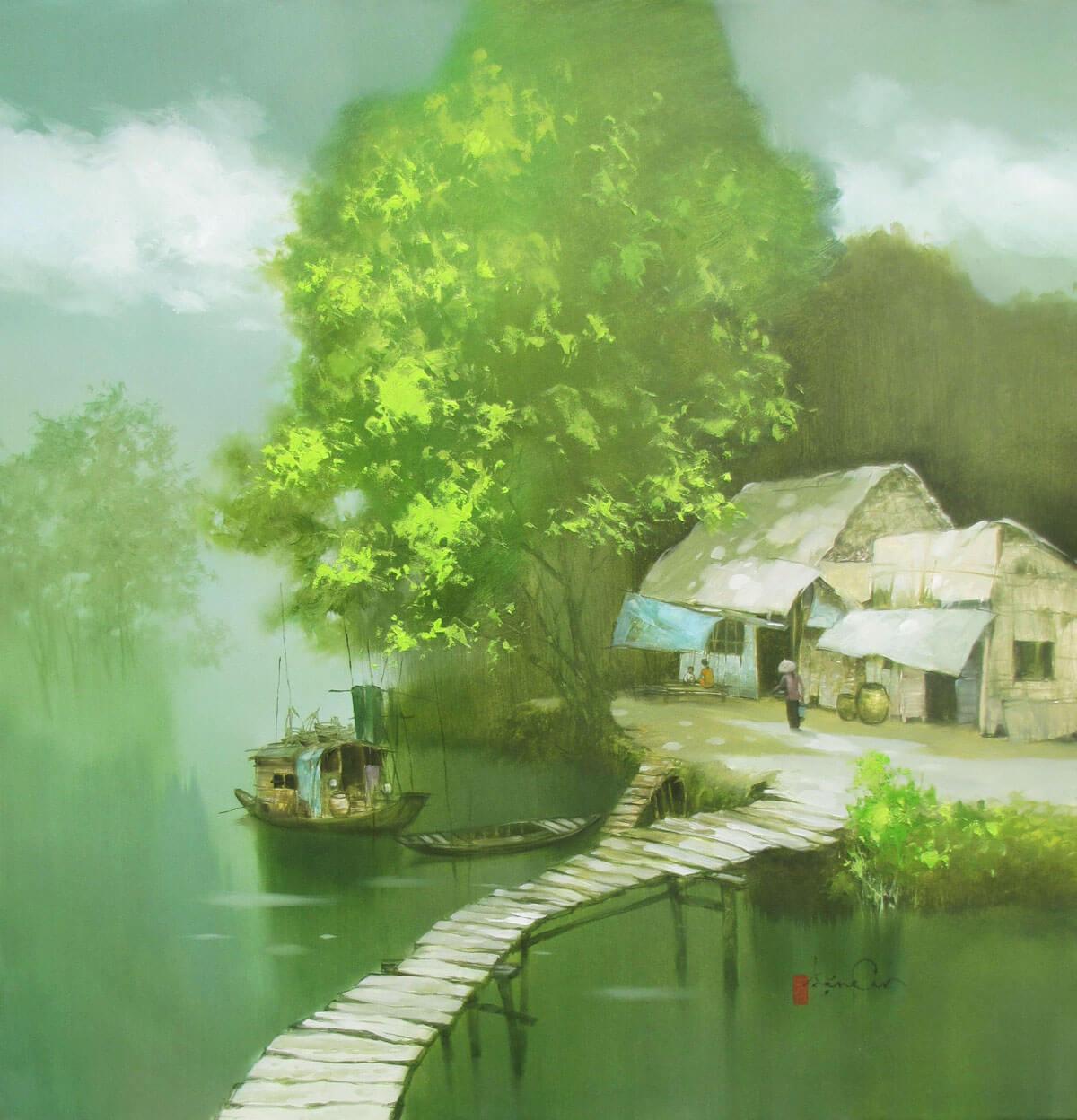 A peaceful day-Original Vietnamese Art