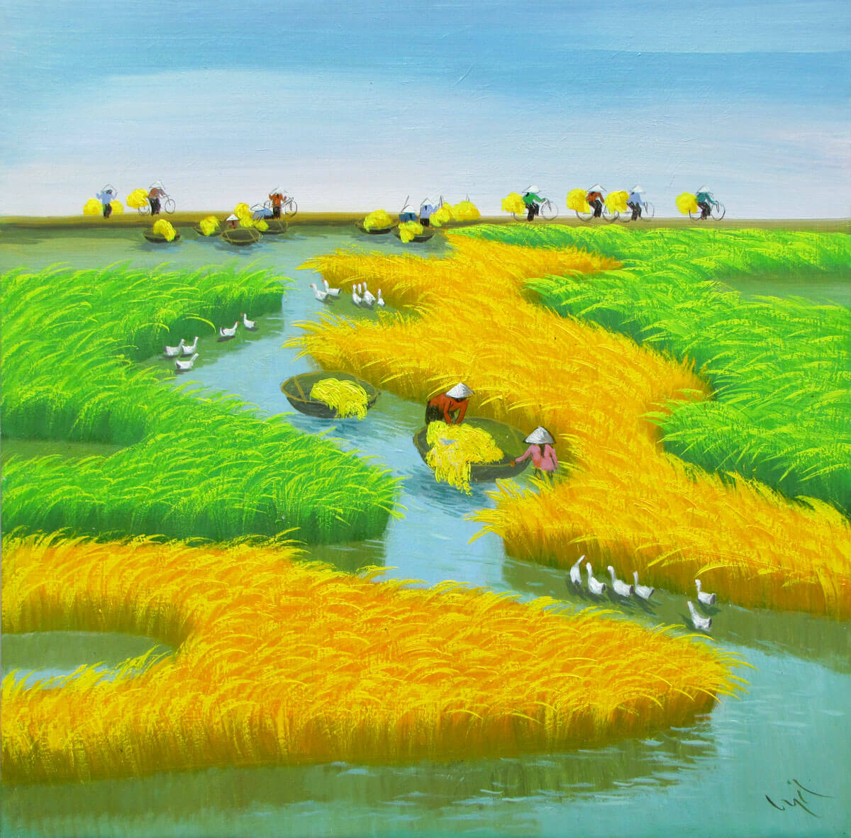 Harvest-Vietnamese Painting