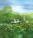 Lotus pond-Original Vietnamese Art
