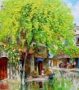Street scene after the rain 02-Original Vietnamese Art