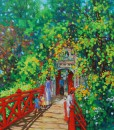 The Red bridge-Original Vietnamese Art