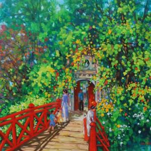 The Red bridge-Original Vietnamese Art