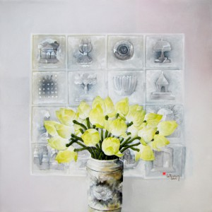 Le Tuong-Still-life with lotus-90x90