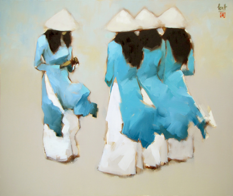 The Blue-Original Vietnamese Art