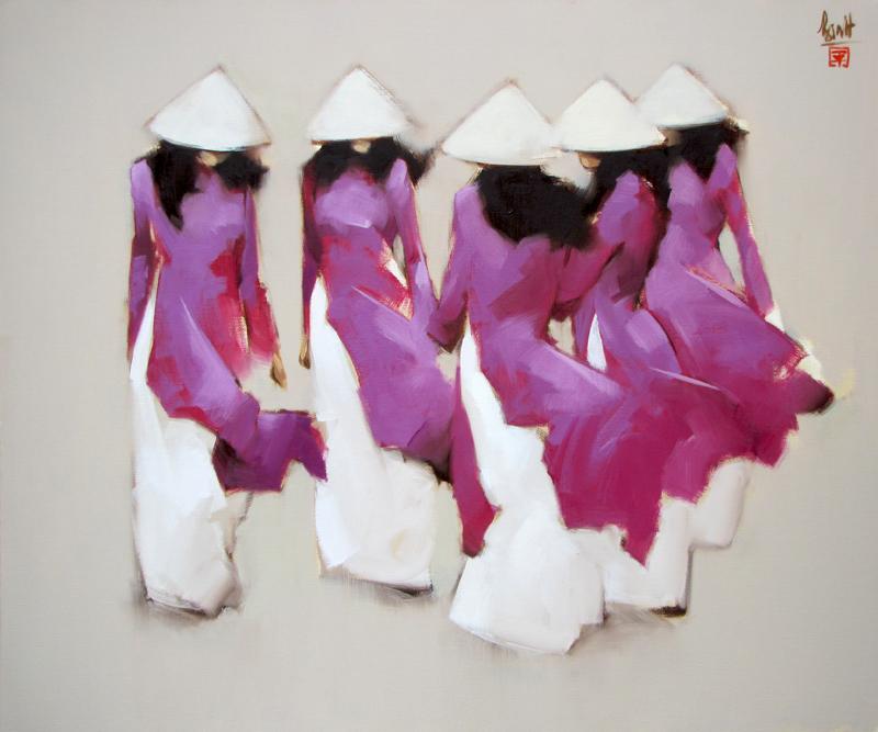 The Purple-Original Vietnamese Art