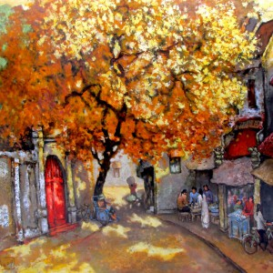 Do Ngoc Diep-Noon in autumn-100x120