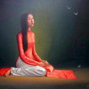 Young Lady 01 -Original Vietnamese Art