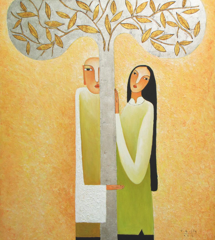 The couple-Original Vietnamese Art