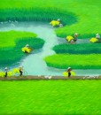 Paddy field 08-Original Vietnamese Art