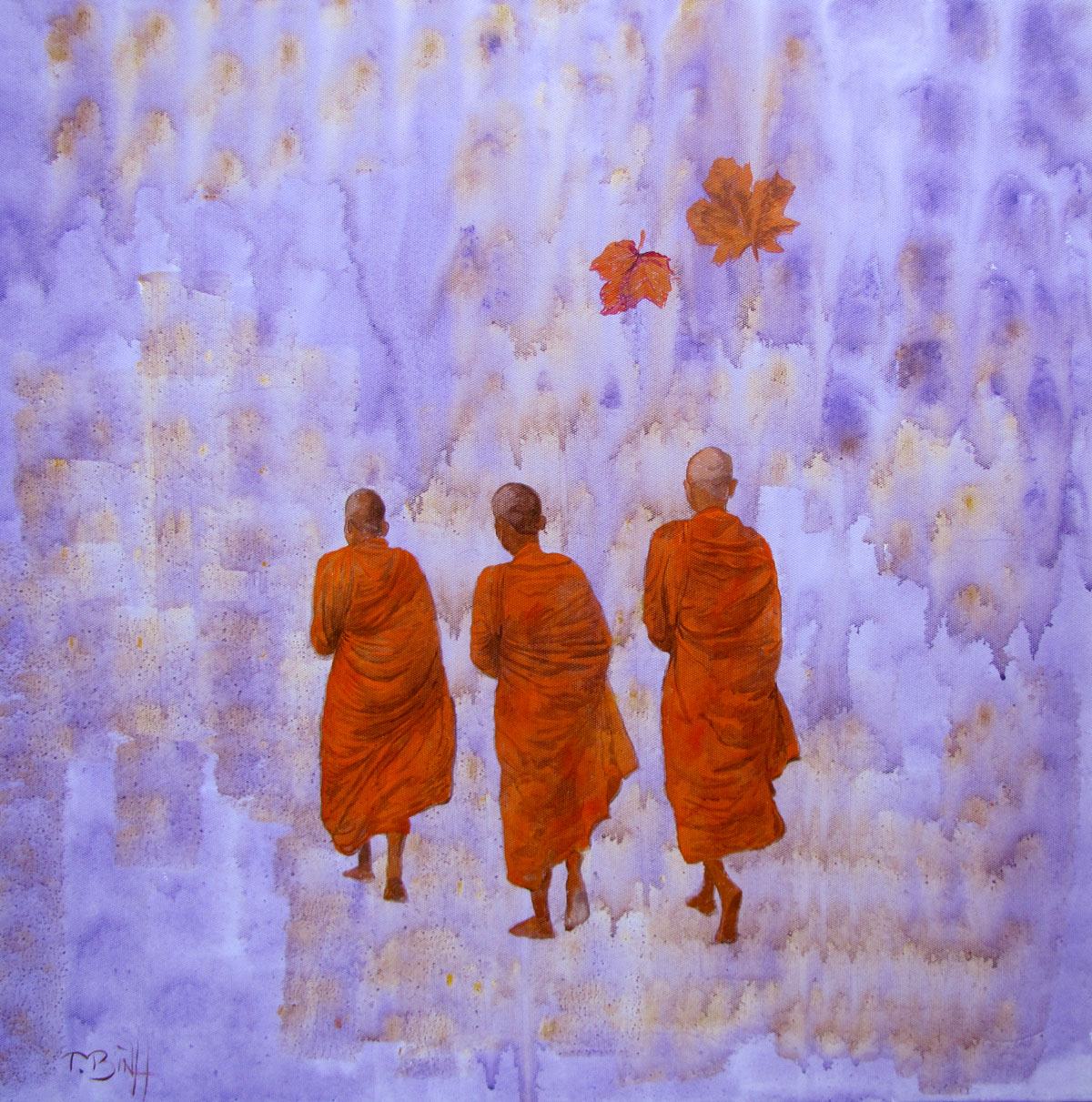 The Monks 03-Original Vietnamese Art