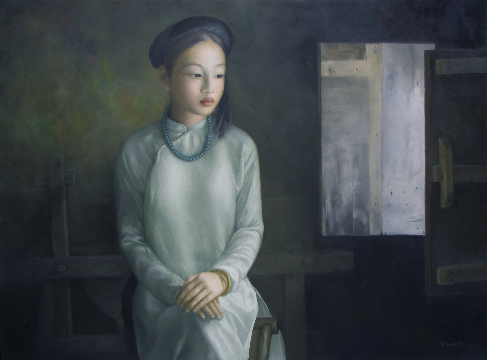 Young girl-Original Vietnamese Art