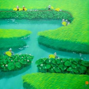 Lotus on the rice field 1-90x90