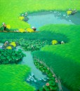 Lotus on the rice field 2-90x90