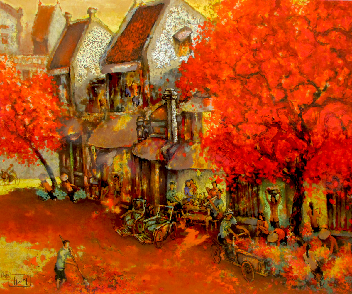 Streetscene in Summer - Vietnamese Art