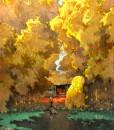 Autumn Pond - Vietnamese Painting