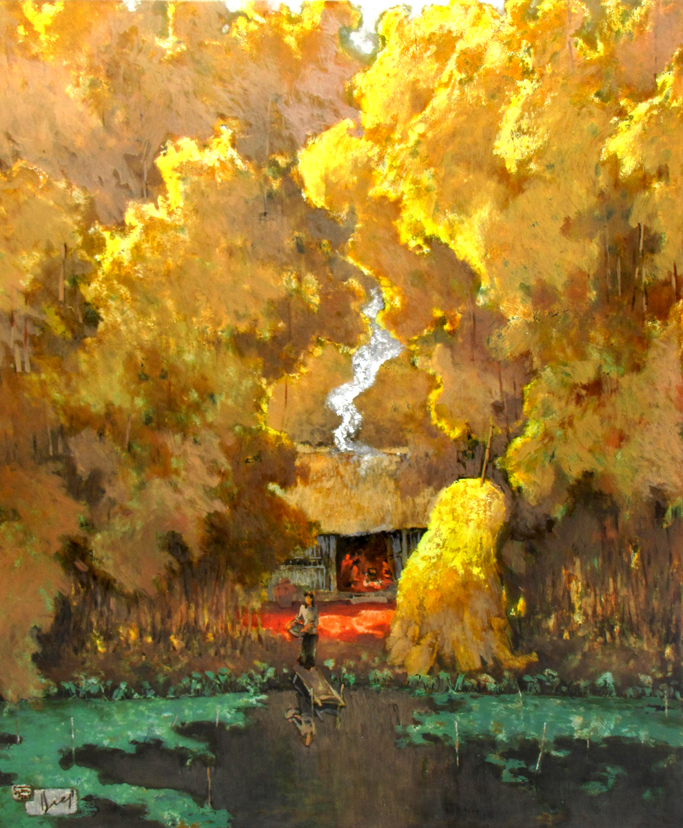 Autumn Pond - Vietnamese Painting