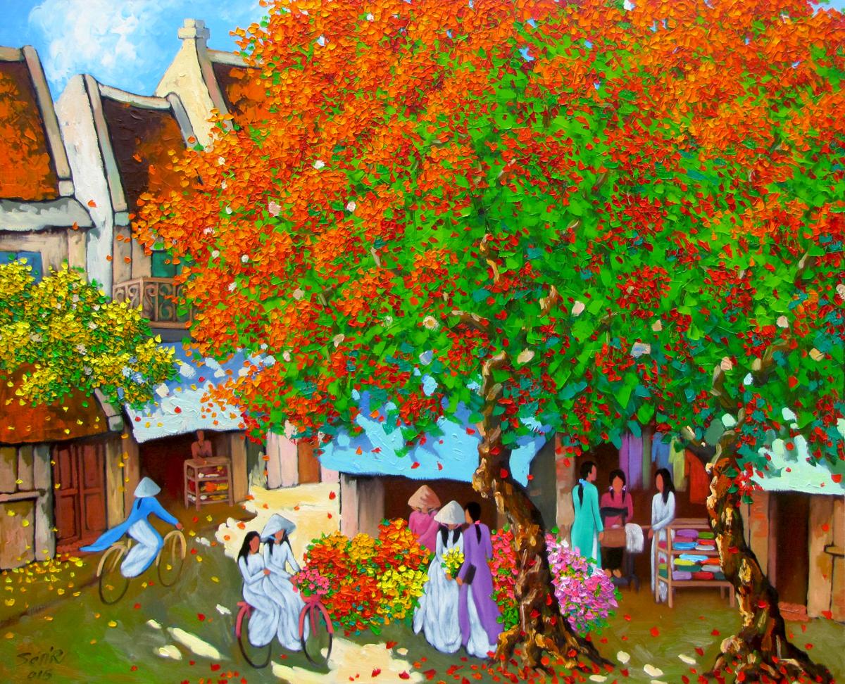 Noon in Summer - Vietnamese Painting