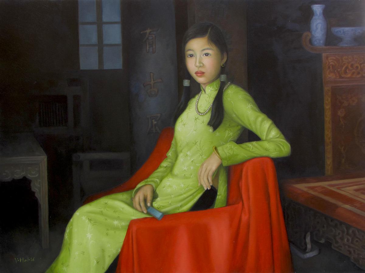 Asian portrait painting|Vietnam Artist