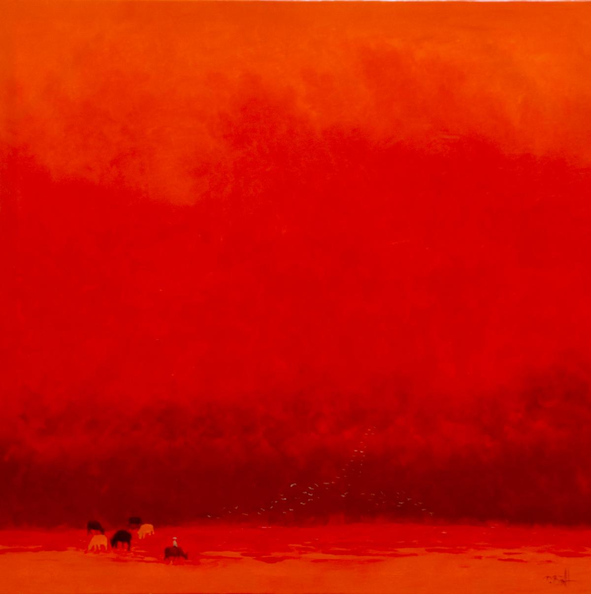 Red Summer - Original Vietnamese Paintings