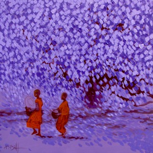 Young Monks - Vietnamese Painting
