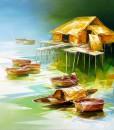 Abstract oil painting|Vietnam Artist