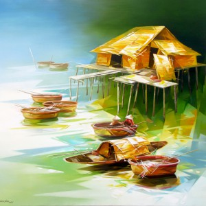Abstract oil painting|Vietnam Artist