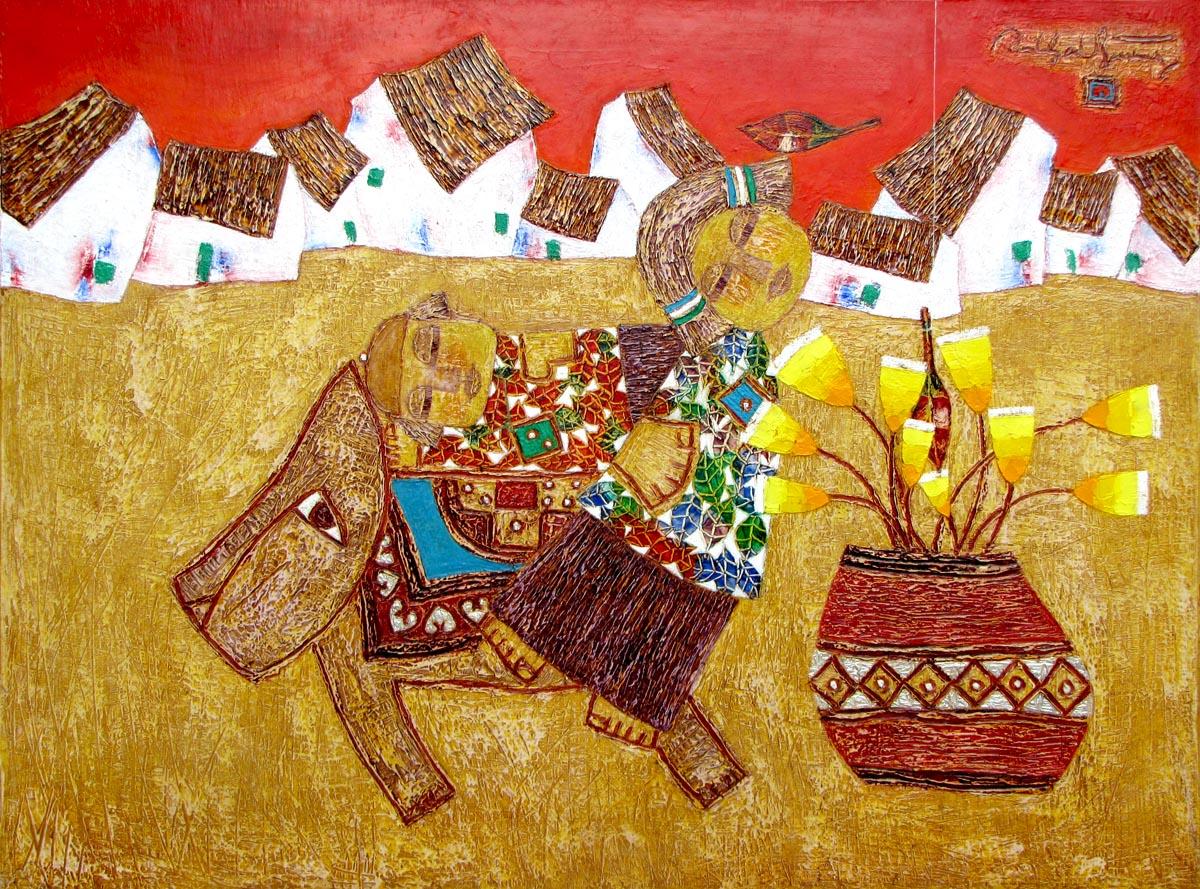 modern Asian oil paintings Vietnam Artist