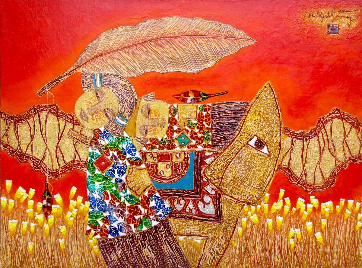 abstract oil painting Vietnam Artist