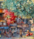 Do Ngoc Diep-Busy morning in Spring 01-100x120cm