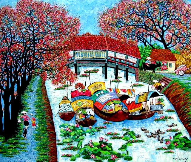 Tran Thu Huong-Blooming season-120x140cm