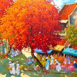 townscape painting Vietnam Artist