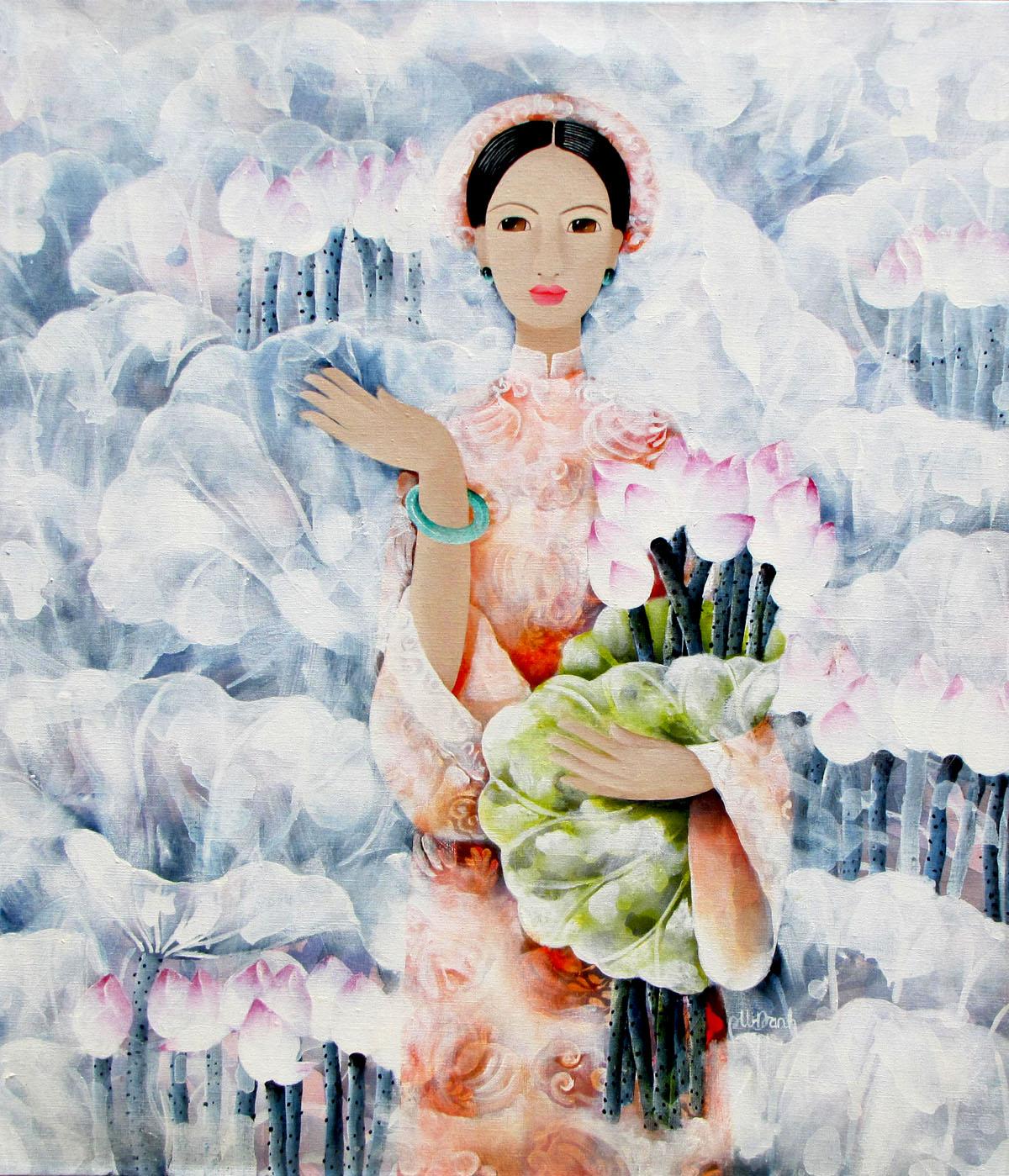 abstract portrait paintings Vietnam Artist