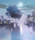 Asian landscape painting Vietnam Artist