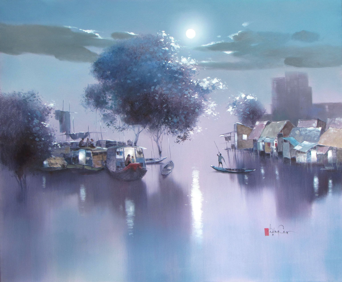 Asian landscape painting|Vietnam Artist