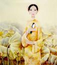 abstract portrait paintings|Vietnam Artist