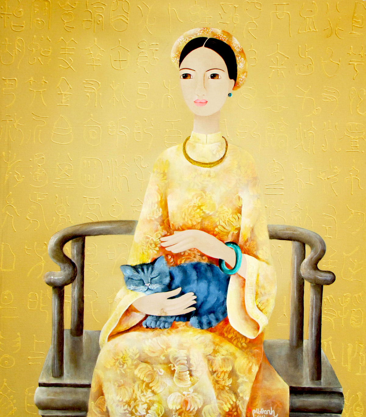 lady-with-cat-70-x-80