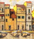 Asian townscape painting|Vietnam Artist