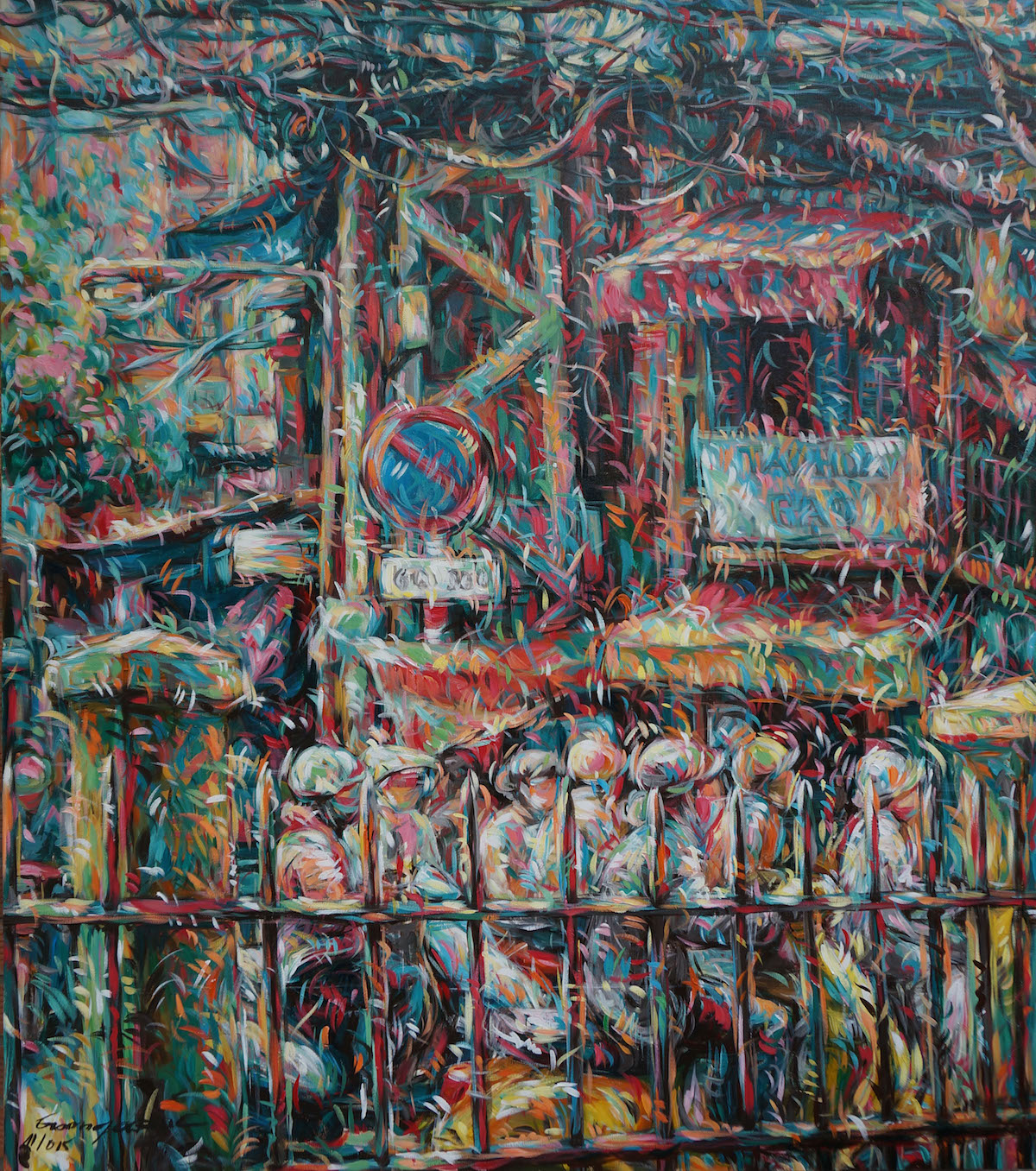 old-town-and-old-street-160x140cm-2015-acrylic