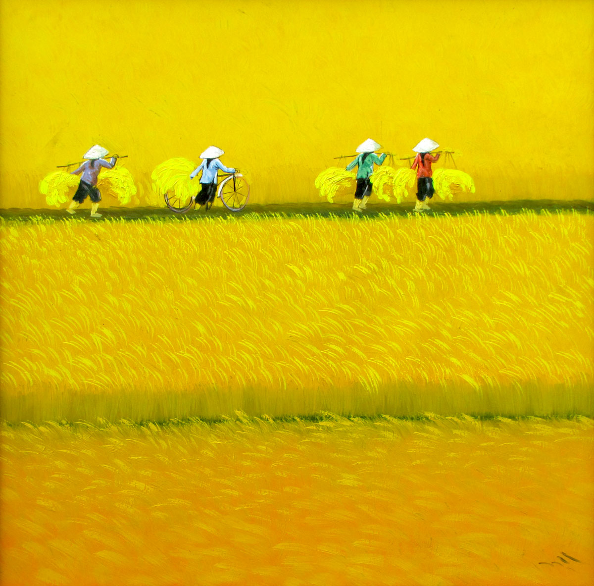To Ngoc - Harvest season - 80x80cm